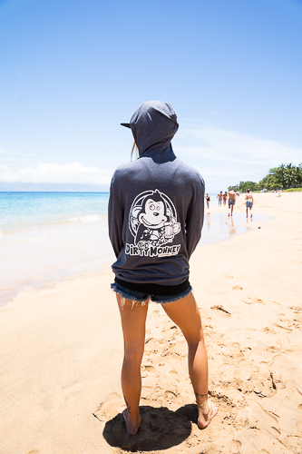 Maui Winter Light Hoodie Blue